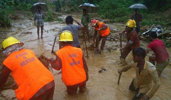 Bangladesh: cerca de 100 muertos y varios heridos tras deslizamientos de tierra