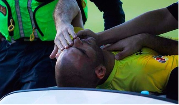 Arquero del equipo de Advíncula y Aquino sufrió aparatoso accidente en la Liga MX