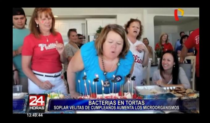 [VIDEO] Soplar las velas sobre el pastel podría provocar el contagio de enfermedades