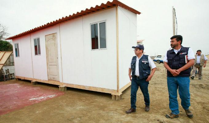 Instalarán módulos de vivienda en las zonas afectadas por el Fenómeno del Niño