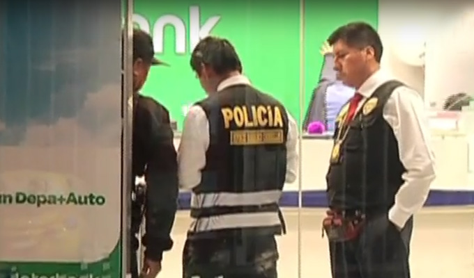 Chorrillos: roban 40 mil soles de entidad bancaria en centro comercial