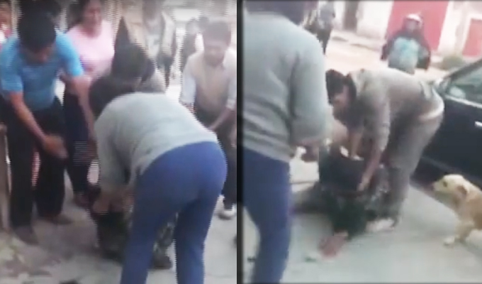 Huancayo: indignados pobladores capturan y golpean a presunto ladrón