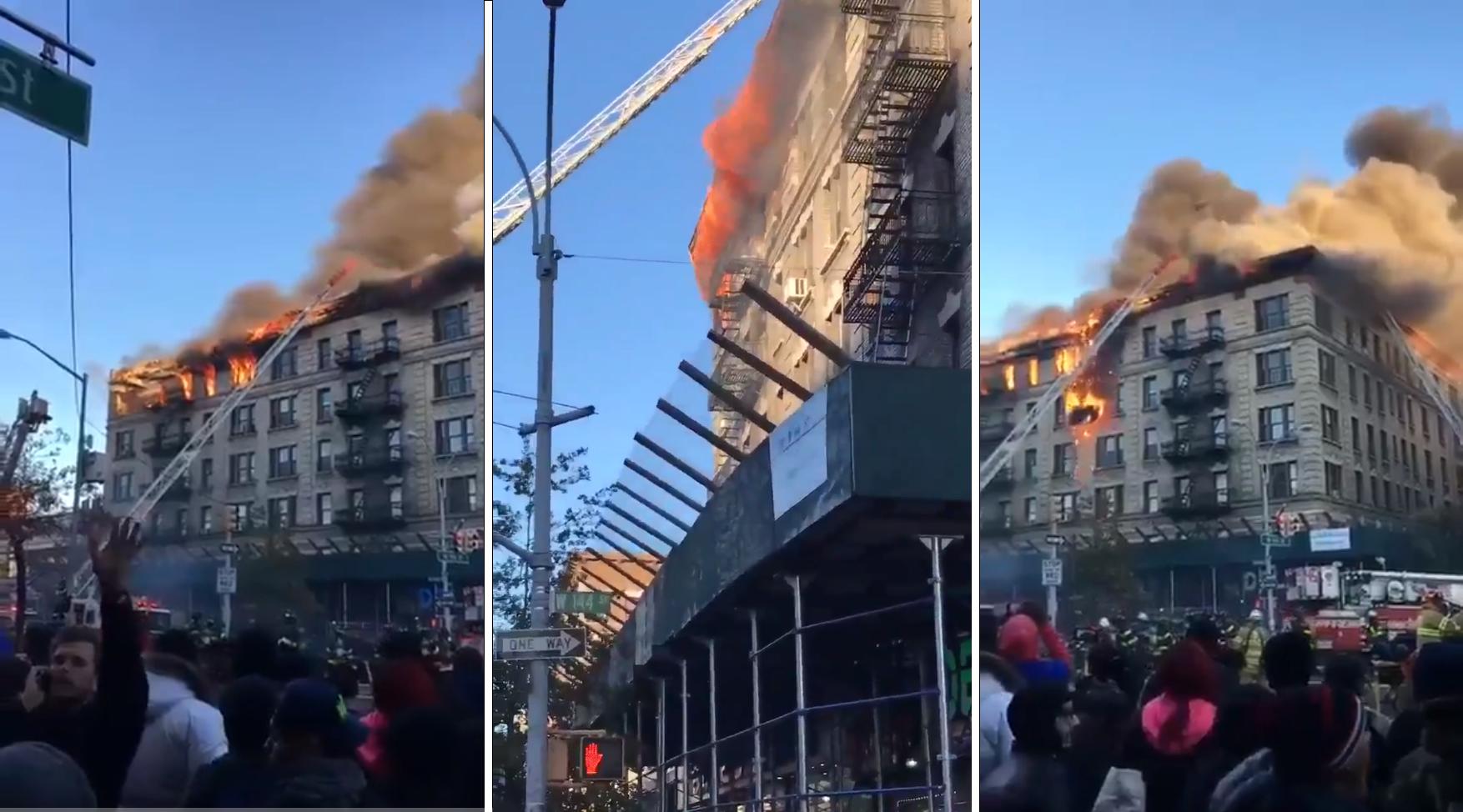 EEUU: alarma por voraz incendio en edificio de Manhattan
