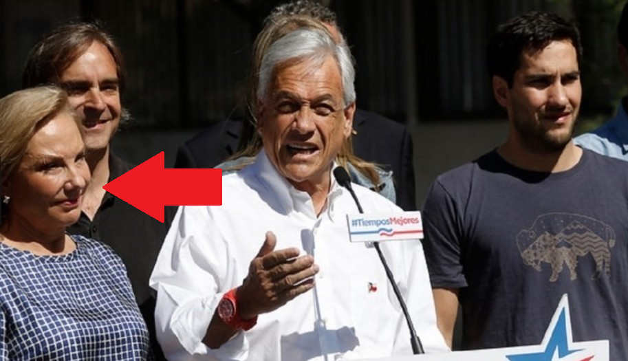 Video de Sebastián Piñera dándole un codazo a su esposa se vuelve viral
