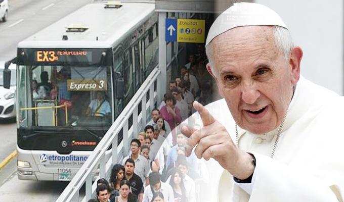 MML: disponen plan de transporte público para la misa del Papa en Base 'Las Palmas'