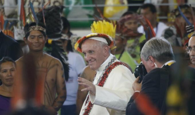 Así fue el encuentro entre el Papa y los líderes de las comunidades indígenas en Puerto Maldonado