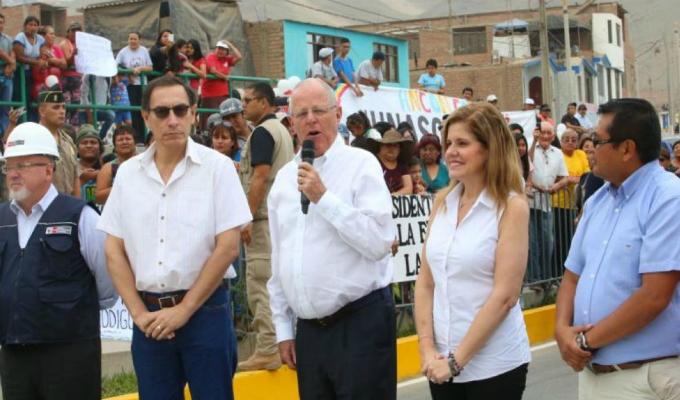 Vizcarra reapareció junto a PPK y Mercedes Aráoz durante entrega de obras en Ancón