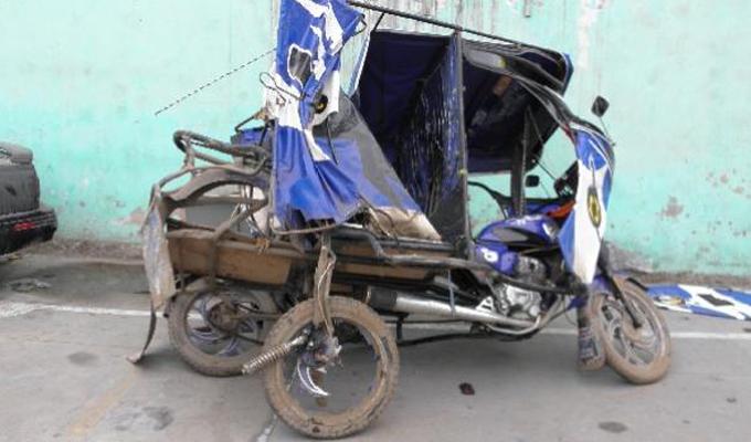 Tarapoto: se registró triple choque entre mototaxis y una motocicleta.