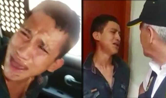 Los Olivos: ladrón llora tras ser capturado por la policía por robar celular
