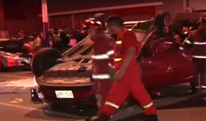 Camioneta provoca triple choque en el Rímac