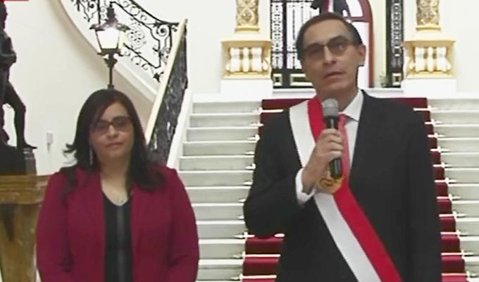Presidente Martín Vizcarra ingresó con honores a Palacio de Gobierno