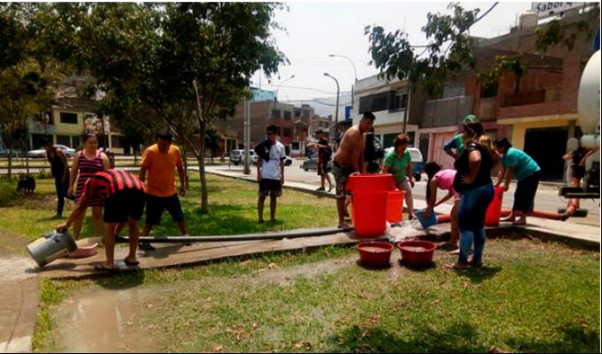 Continúan las quejas por falta de agua en SJL