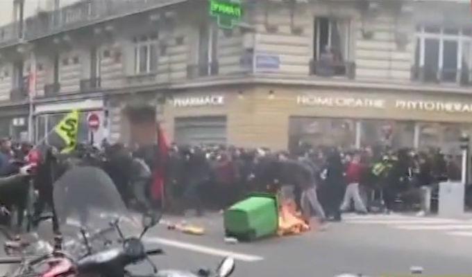 Francia: violentas protestas contra reformas de Macron