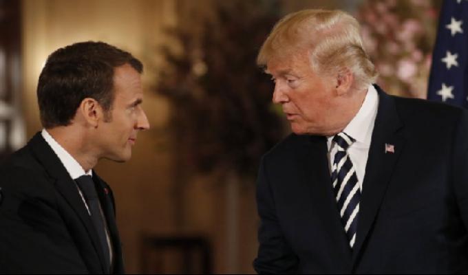 EEUU: Donald Trump se reúne con Emmanuel Macron en Casa Blanca