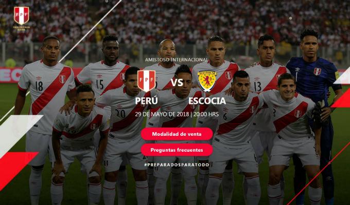 Perú vs. Escocia: ¡Así será venta de entradas para despedida de la selección!