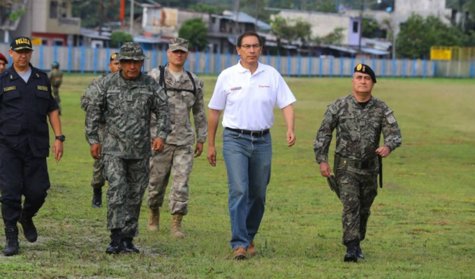 Presidente Vizcarra llegó a Huánuco para liderar Muni Ejecutivo