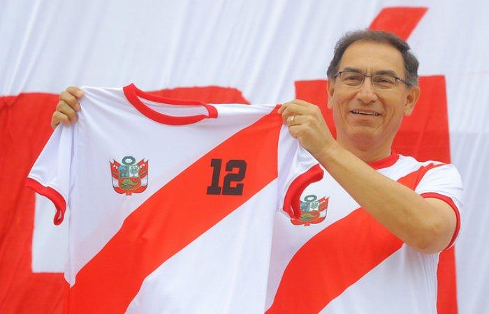 Perú vs. Escocia: Presidente Vizcarra llegó al Estadio Nacional a alentar a la 'Bicolor'