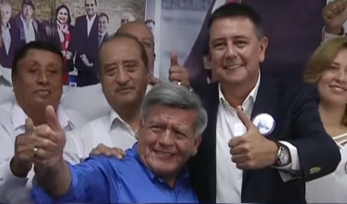 César Acuña presentó a Jaime Salinas como su candidato a la alcaldía de Lima