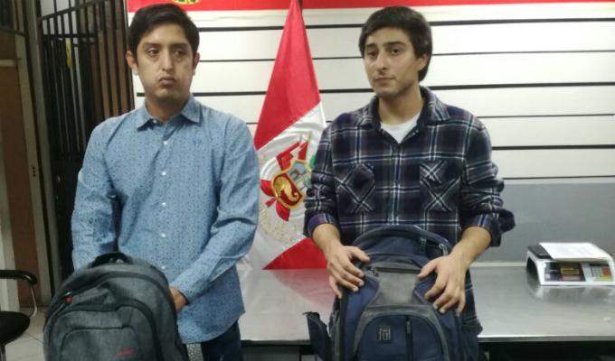 Aeropuerto Jorge Chávez: detienen a dos burriers que iban a llevar 8 kilos de cocaína a Chile
