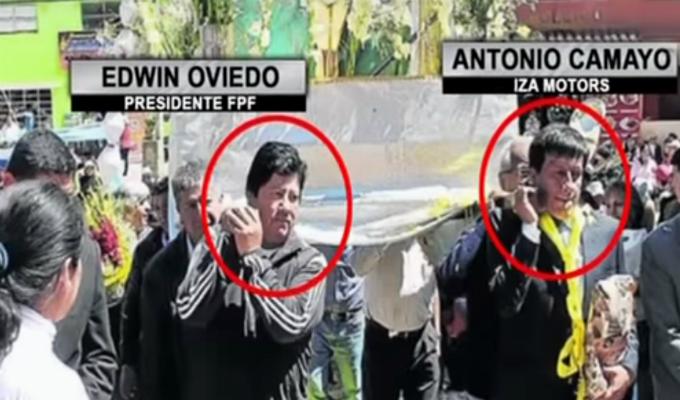 Edwin Oviedo y Antonio Camayo aparecen juntos en fotografía del 2016
