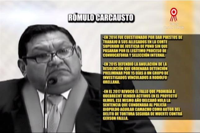 CNM ratificó en el cargo a juez Rómulo Carcausto pese a polémicas resoluciones