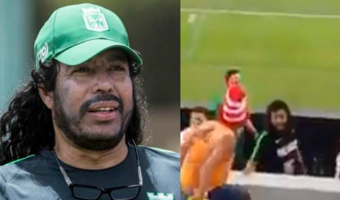 René Higuita golpeó a un fanático en el rostro