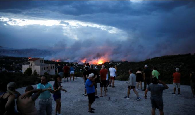 Grecia: incendios forestales dejan más de 70 muertos