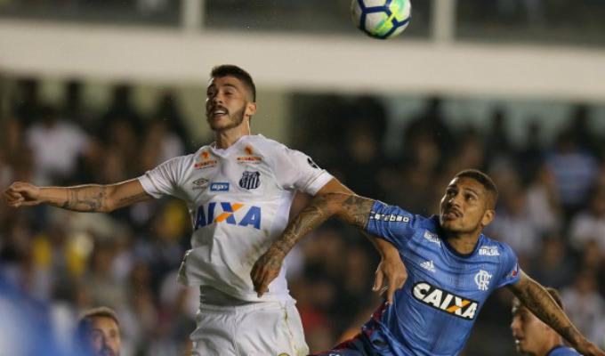 Brasileirao 2018: Flamengo y Santos igualaron 1-1 marcador