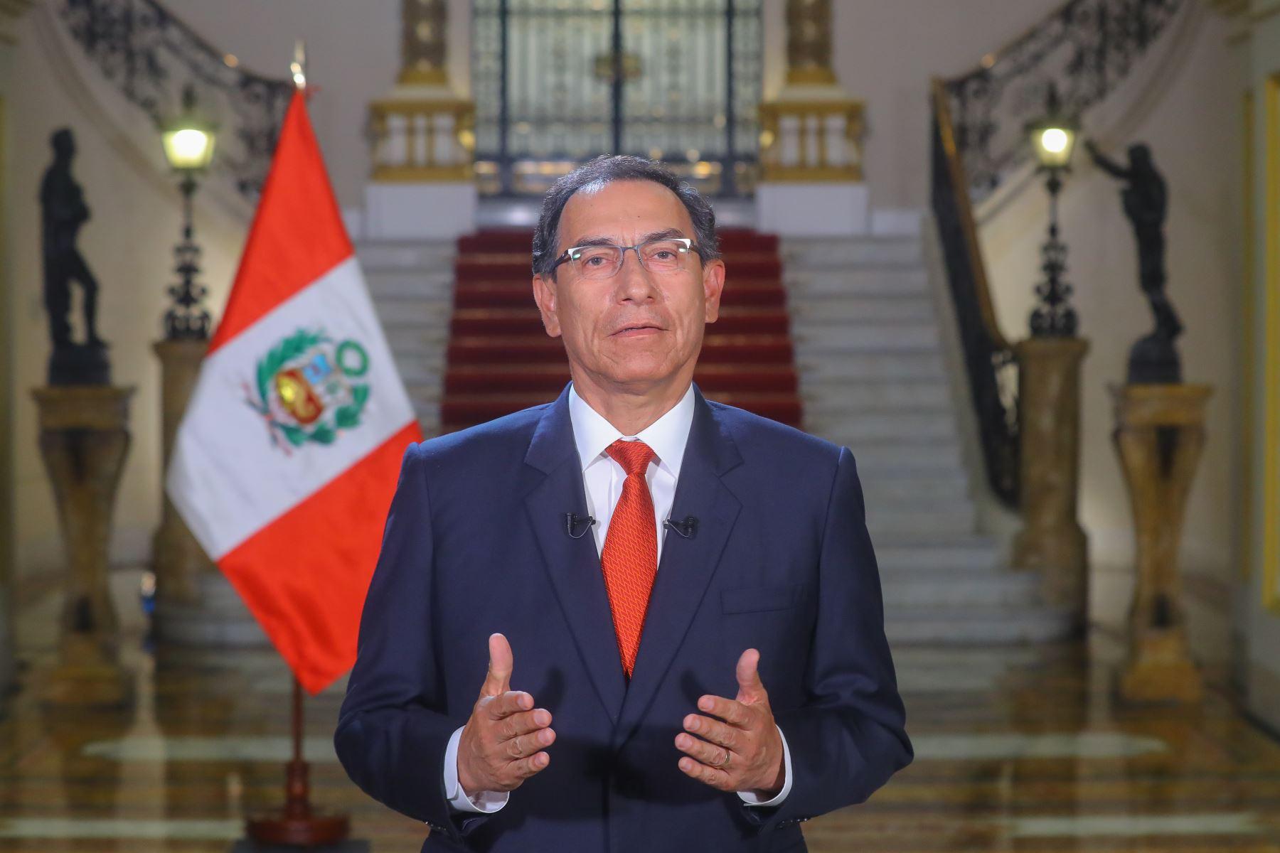 """Presidente Vizcarra expresa su respaldo a la tercera marcha """"Ni Una Menos"""""""