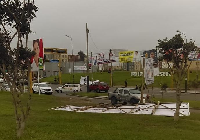 Denuncian exceso de publicidad política en Surco