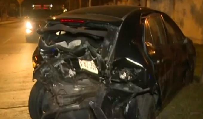 Conductor provoca triple choque en avenida San Borja Norte