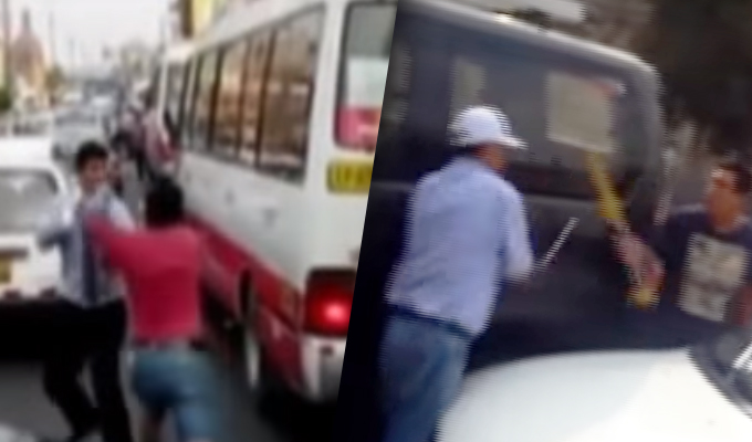 El caos en el transporte público parece no tener fin en las calles de Lima