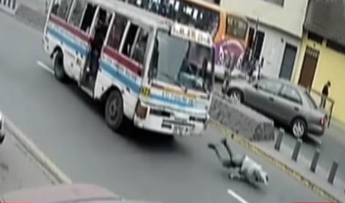 El Agustino: presunto ladrón es atropellado por cúster tras robar celular