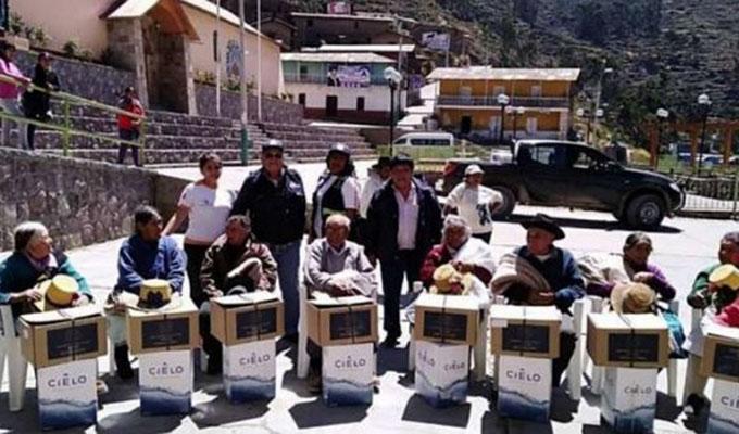 Indeci culmina entrega de ayuda a zonas afectadas por las heladas