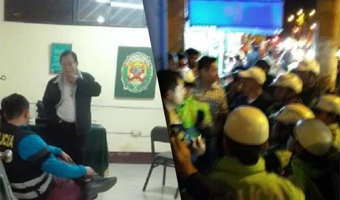 Chimbote: detienen a dos efectivos de la policía anticorrupción por confuso incidente