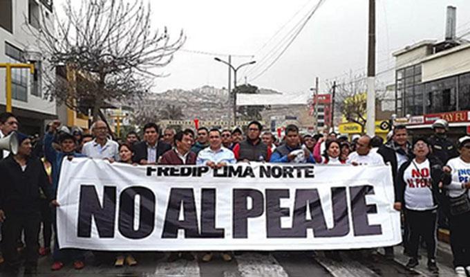 Panamericana Norte: protestan exigiendo suspensión de peaje