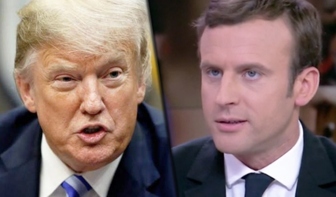 """Donald Trump critica al presidente de Francia por propuesta de creación del """"Ejército Europeo"""""""