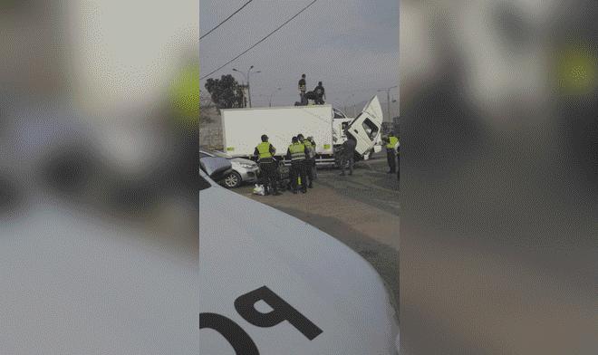 Ancón: PNP halló 100 kilos de cocaína de alta pureza camuflada en un furgón