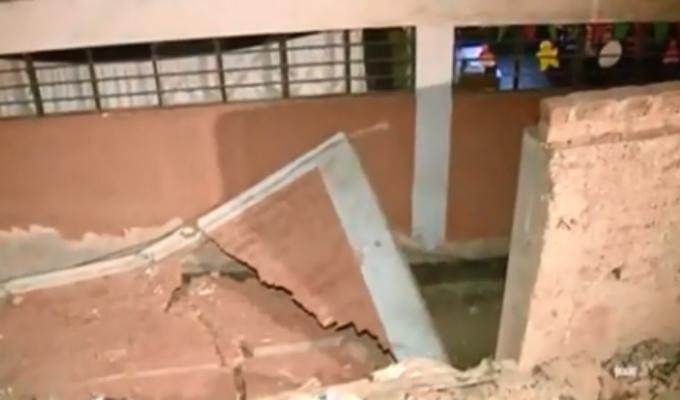 VMT: muro de colegio se derrumba por falta de mantenimiento