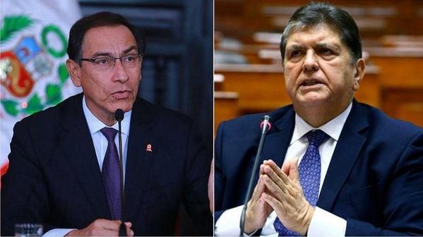 """Alan García responsabiliza a presidente Vizcarra por presunto """"chuponeo"""""""