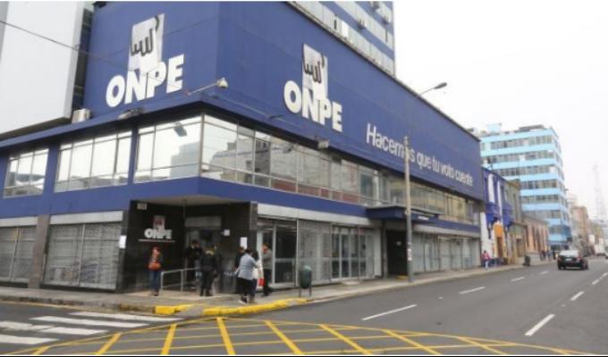 ONPE: No se ha entregado ningún cronograma para elecciones 2020