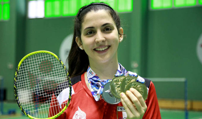 Daniela Macías ganó medalla de oro en Sudamericano de Bádminton