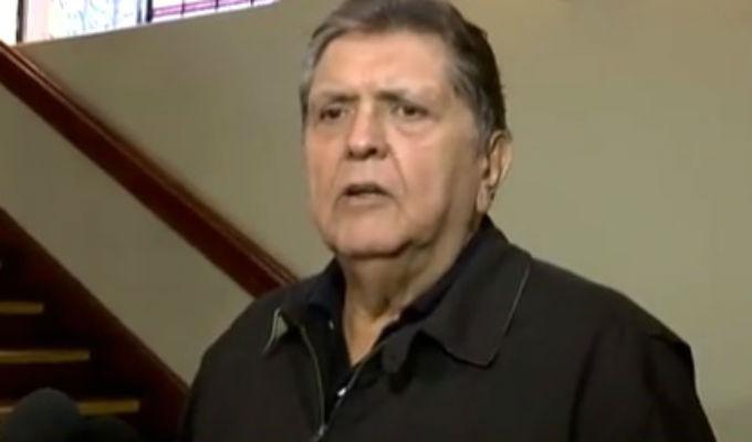 Expresidente Alan García no acudió a declarar a la Fiscalía