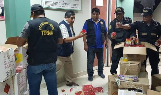 Chiclayo: decomisan 5 toneladas de pirotécnicos al interior de vivienda