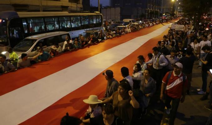 Pedro Chávarry: así se vivió la marcha que llegó hasta el MP