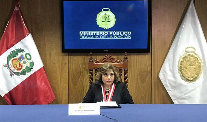 Fiscal Zoraida Ávalos declara en emergencia el Ministerio Público