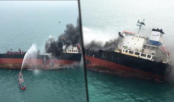 Hong Kong: un muerto y varios heridos deja explosión de un buque petrolero