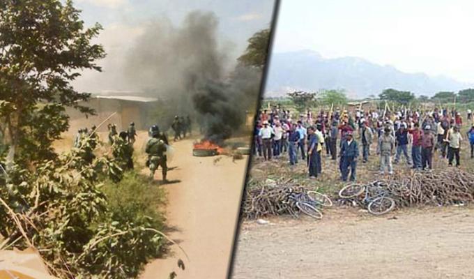 """Lambayeque: violento desalojo de invasores en """"Patapón"""" deja cuatro heridos"""
