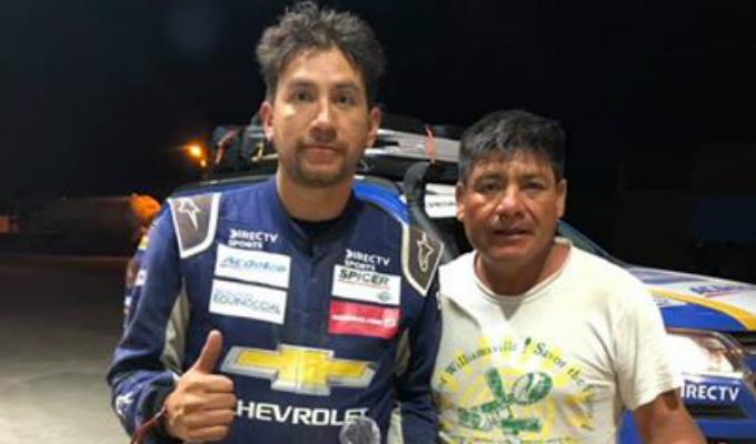 Piloto ecuatoriano agradeció noble gesto de peruano en el Dakar 2019