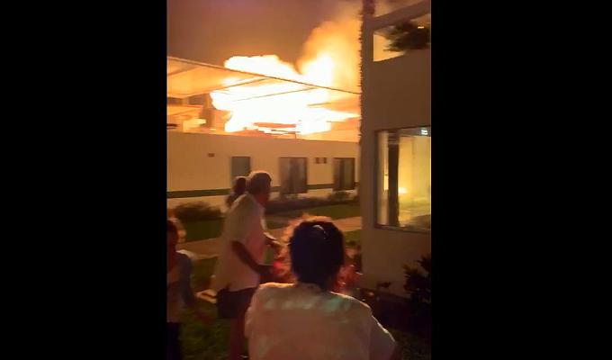 Asia: reportan incendio en playa Las Palmas